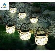 Solar Powered Hanging Garden Lanterns Lantern Hanging Lamp Solar