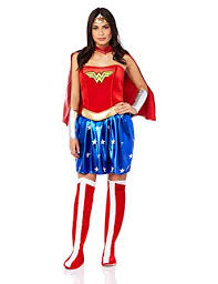 Rubieu0027s Costume Womenu0027s Deluxe Wonder Woman Costume, Blue/Red, ...