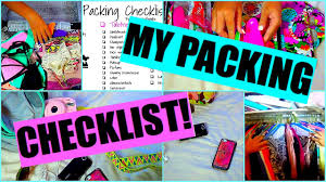 Packing List For Summer Vacation My Packing Checklist How I Pack For Vacation Youtube