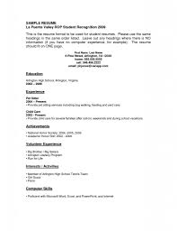 Internship Resume Template Sample Objective For College Student