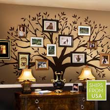 beautiful ideas family tree wall decor home remodel decal by simple shapes chestnut brown standard decoration stick on