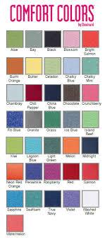 Comfort Colors T Shirts Color Chart Comfort Colors Effy Moom