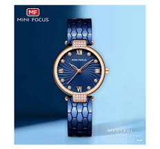 <b>MINIFOCUS</b> Modern Fashion Blue Quartz Watch Men Women ...