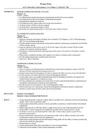Web Analyst Resume Sample Communications Analyst Resume Samples Velvet Jobs 23