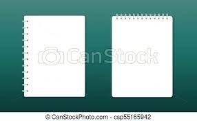 Office Stationery Design Templates Realistic Template Notepad With Spiral Blank Cover Design