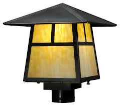 meyda 138052 stillwater t mission craftsman 11 nbsp tall exterior lamp post light fixture loading zoom