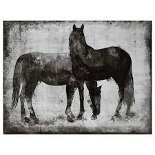 Ballard Designs Horse Art Canvas Horses Canvas Framed Art Wall Decor Bouclair Com