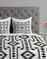 pretty design black and white duvet cover tribal geometric pattern covers queen full set
