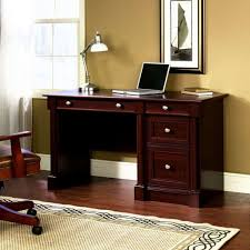 cherry wood desk with drawers