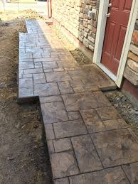 Best Mix Design For Stamped Concrete Walkway Sidewalk In Grand Ashlar Stamped Concrete With