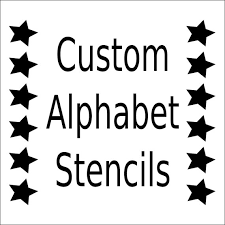 alphabet stencil letter stencil any font small to large reusable mylar for signs fabric large wall art weddings businesses from westlondonlaser  on wall art letter stencils with alphabet stencil letter stencil any font small to large