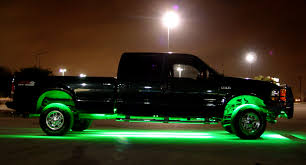 led light car completely flexible waterproof and extremely versatile green colored truck bottom lifetime warranty against