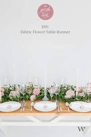 diy fabric flower table runner