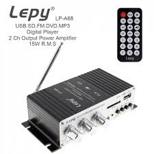 LEPY <b>LP A68</b> Digital <b>15W x 2</b> 2CH HI FI Audio Player Car Amplifier ...