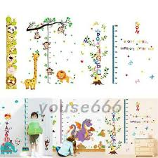 Monkey Growth Chart Wall Monkey Climbing On Giraffe Growth Chart Wall Sticker