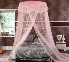 DHL free luxury Royal folded kids double bed canopy mosquito net pink  princess hanging round lace bed canopy netting -in Mosquito Net from Home &  Garden on ...