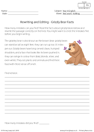 and Editing - Grizzly Bear Facts