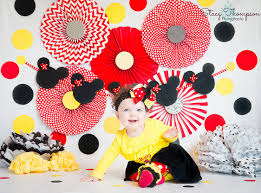 Yellow Red And Black Minnie Mouse Cake Smash Session Www