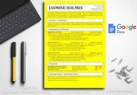Resume Template Jasmine Holmes