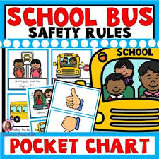 School Safety Rules Chart School Bus Safety Rules Pocket Chart Sort Beginning Of The Year Activity