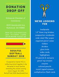 soulful softball sunday 2018 school supply drive