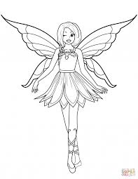 Fairies Coloring Pages Christmas Fairy Colouring Print Barbie