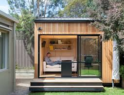 LOVE this backyard shedquarters office idea! Lots more shedquarters  pictures on this page.