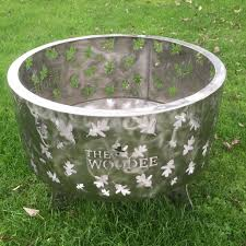 stainless steel fire pit  the woodee