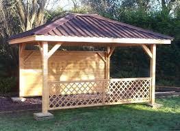 log cabin wooden garden gazebos very heavy duty full table