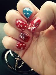 true gel nail art 4th of july nails