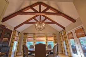 lighting beams. Dining Room Remodeled With Standard King Truss Made Custom Timber Beams And Orbital Chandelier Lighting