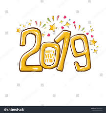 2019 Happy New Year Poster Card Stock Vector (Royalty Free ...