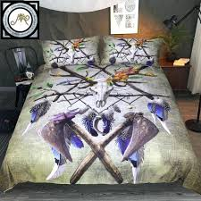 tribal bedding set native skull by bedding set green black duvet cover tribal skull axe tribal