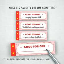 Blank Coupon Book For Boyfriend Free Printable Love Coupons