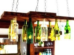 wine bottle chandelier kit light fixtures pendant