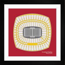 kansas city chiefs arrowhead stadium framed print gift