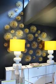 creative wall decor with gold sea urchins on dwell metal wall art with diy dwell studio boom art sculpture pinterest wall sculptures