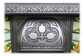 Antique Edwardian Art Nouveau Cast Iron And Tiled Interior