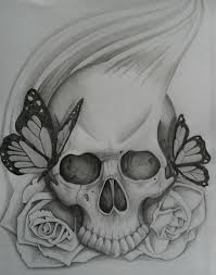 A semi traditional drawing design. Pin By Autumn Bayne On Tattoos I Like Simple Skull Skulls Drawing Skull Tattoo