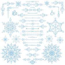 christmas menu borders christmas new year decor set winter borders elements stock vector