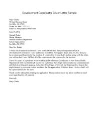 Cover Letter Development Cover Letter Leadership Development Cover