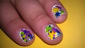 Paint Splash Nail Design Splatter Paint Nail Design How To Paint A Splatter Nail