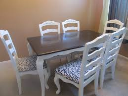 diy dining table with motif chair