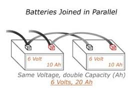 understanding battery configurations battery stuff 12v Battery Bank Wiring Diagram batteries joined in parallel 12 Volt Battery Wiring Diagram