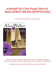 The Color Purple Book Online 23765 Hypermachiavellismnet