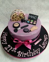 makeup beautician cake for 21st birthday inspiration taken from