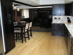 Dark Wood Floors In Kitchen Modern Wood Floors In Modern Kitchen Dark Wooden Floors On