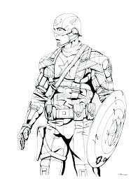 Captain America Winter Soldier Coloring Pages Colouring Page