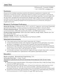 Use clear section headings and make them stand out with bold type, capital letters, and/or a different color. Molecular Biology Scientist Resume Example Myperfectresume