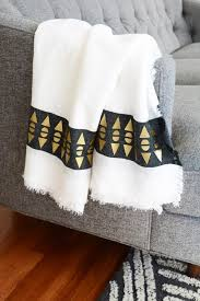 White And Gold Throw Blanket
